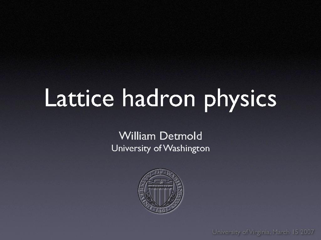 Physics At The University Of Virginia Seminars And Colloquia Home Dodge Neon Wiring Diagram Dakota Radio Free Picture
