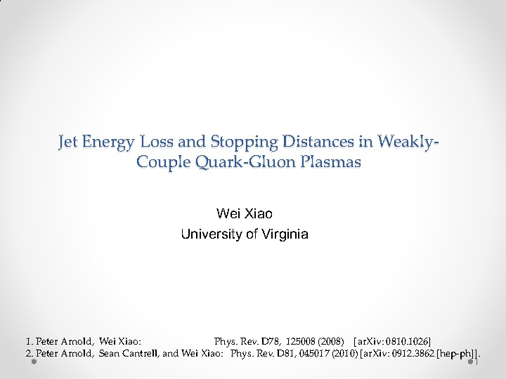 Physics at the University Of Virginia - High Energy Physics