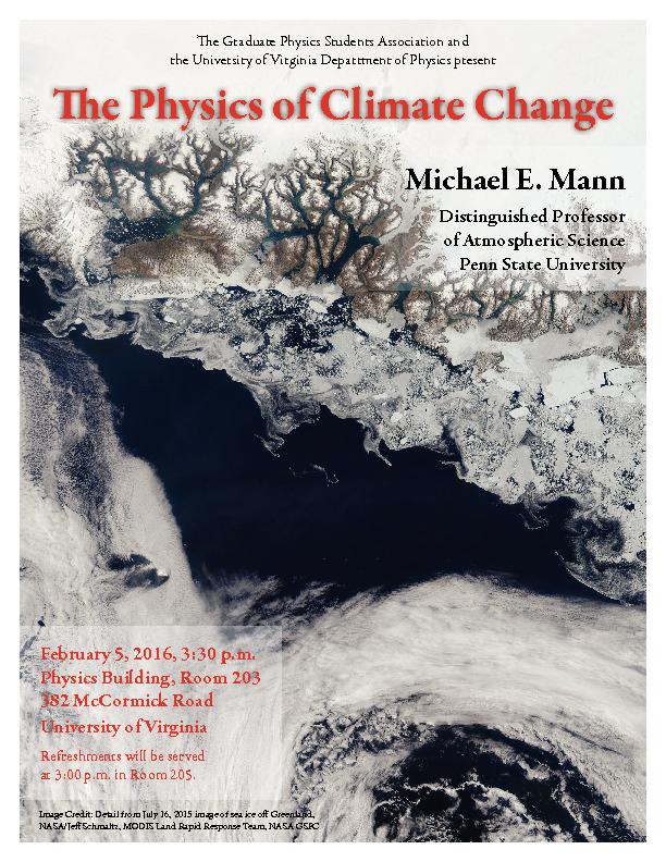 Physics at the University Of Virginia - Colloquia History